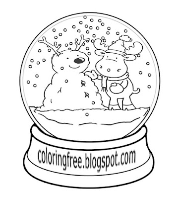 Frozen snow world frosty snowman and reindeer snowflake coloring pages winter drawing ideas for kids