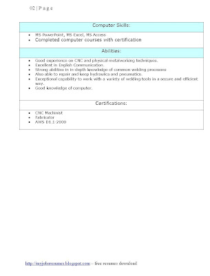 Resume Format, Examples, samples Free Edit with word