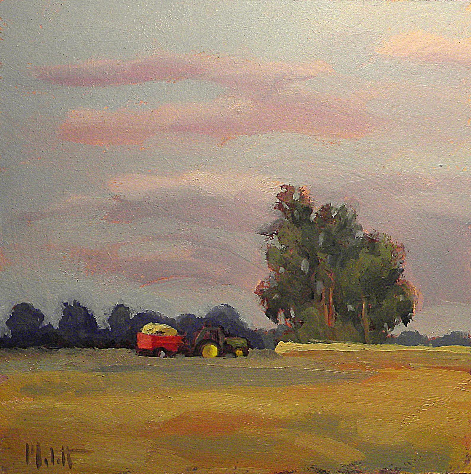 Painting Daily Heidi Malott Original Art Corn Harvest John Deere Autumn Fall Daily Painting