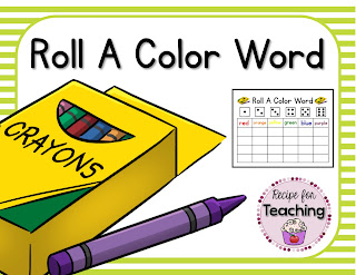 https://www.teacherspayteachers.com/Product/Roll-A-Color-Word-1335164