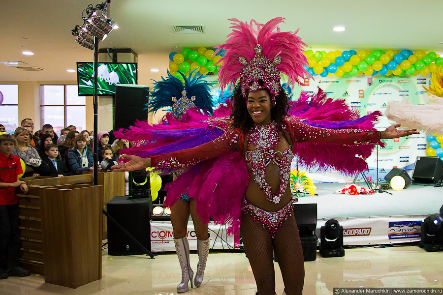 Бразильское Танцевальное Шоу. Саранск, открытие ТРЦ РИО