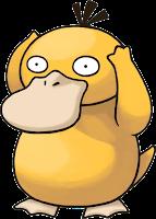 Imagen de Psyduck, Pokemon con forma de pato amarillo y las manos siempre en la cabeza.