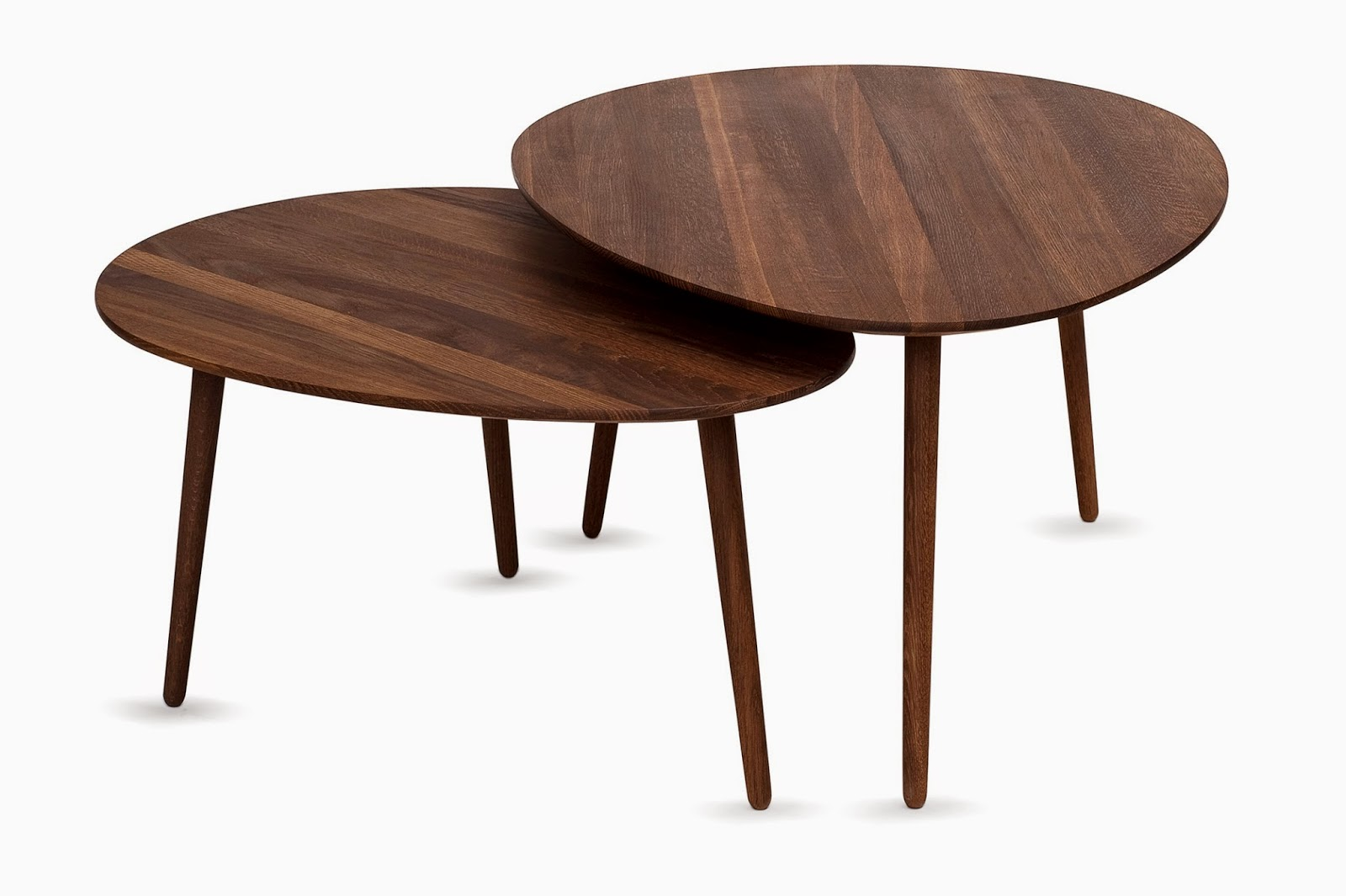 wood oval coffee table