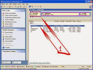 Программа для управления разделами жесткого диска PartitionMagic