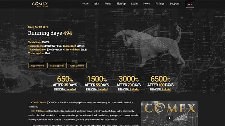 Новости от Comex Trades