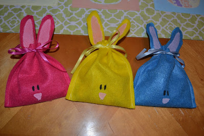 Easter Craft Felt Bunny Treat Bags Crafts Ideas Crafts For Kids
