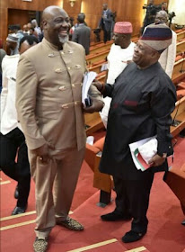 Senator Adeleke And Dino All Smiles In The Senate