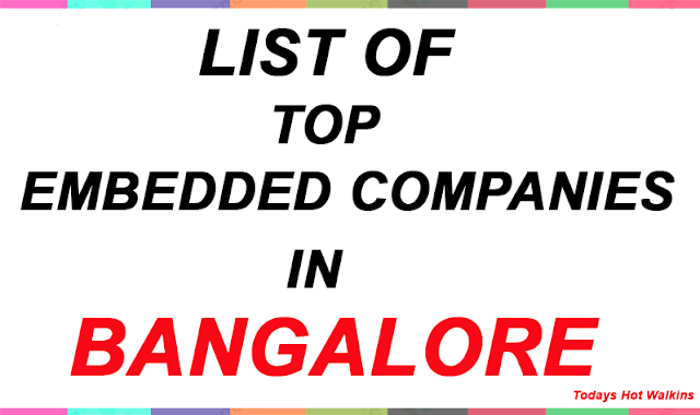 Embedded Companies in Bangalore