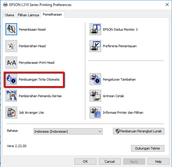 Cara Mengatasi Tinta Macet Pada Printer Epson Sistem Infus