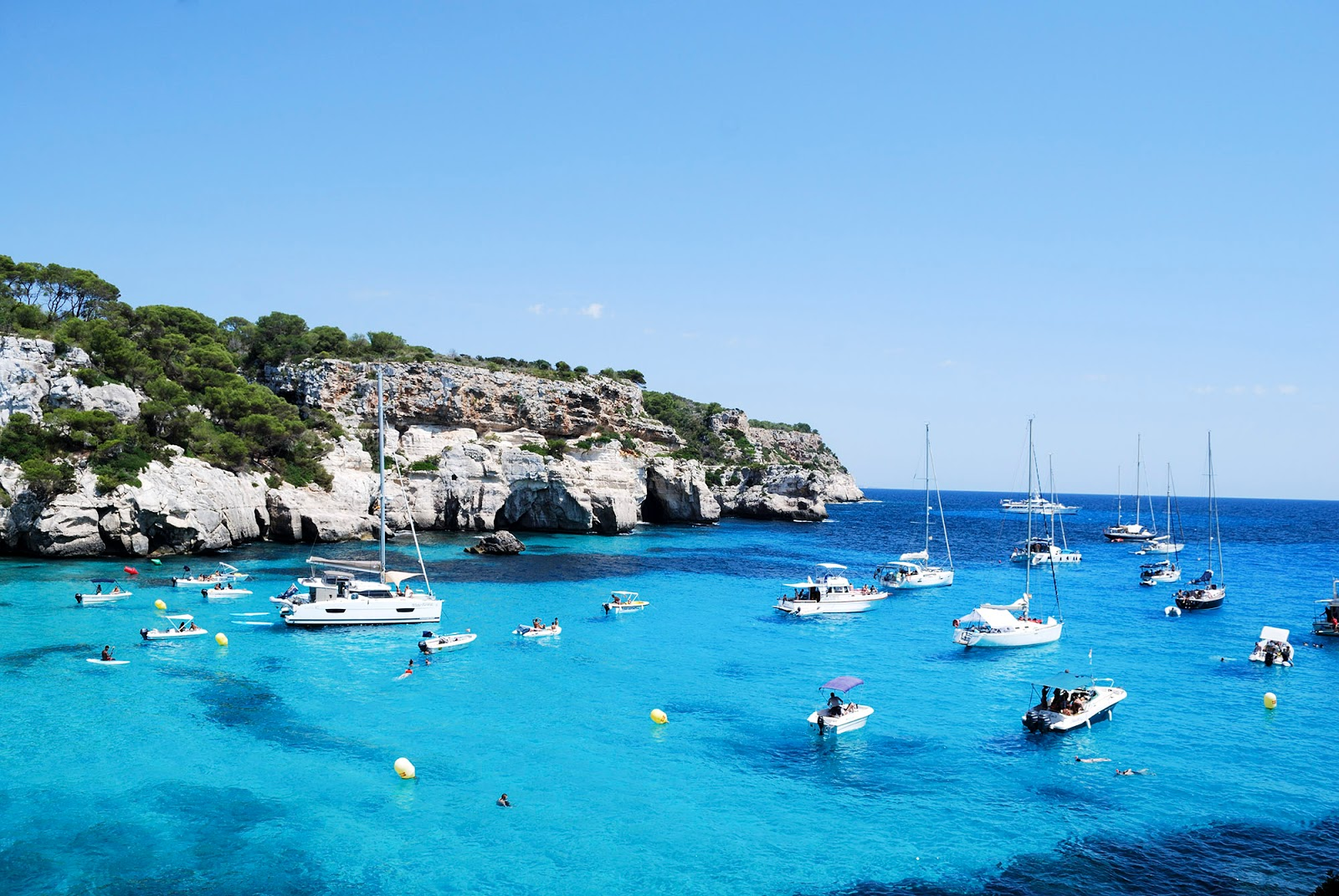 Cala Macarella Menorca Spain turquoise water itinerary what to do