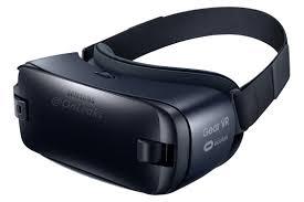 nueva samsung Gear VR 2016 de color negro y azul oscuro