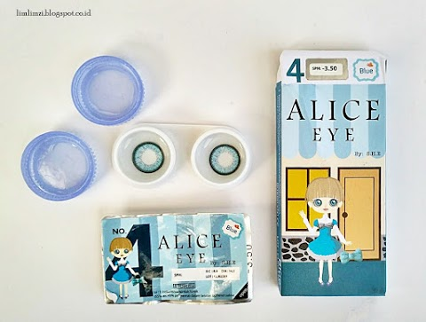 [REVIEW] S.H.E Softlens Alice No. 4 (Blue)