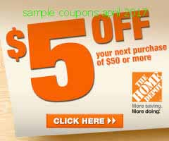 Home Depot coupons for april 2017