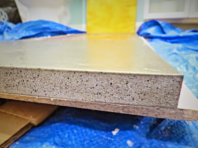 bubbles concrete pitting edge counter