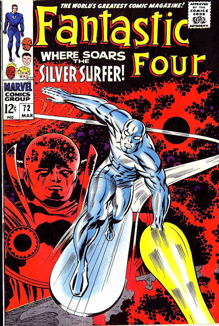 Fantastc Four v1 #72 silver surfer 1960s silver age comic book cover art by Jack Kirby
