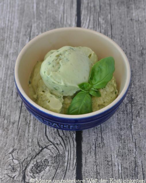 Avocado-Basilikum-Eis von Meine wunderbare Welt der Köstlichkeiten