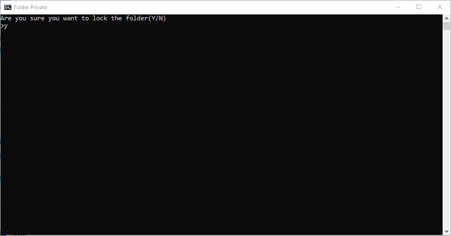 Cara membuat password di Folder windows
