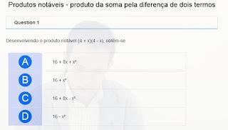http://www.auladoguto.com.br/exercicios-online-de-matematica/exercicio-online-produtos-notaveis-produto-da-soma-pela-diferenca-de-dois-termos
