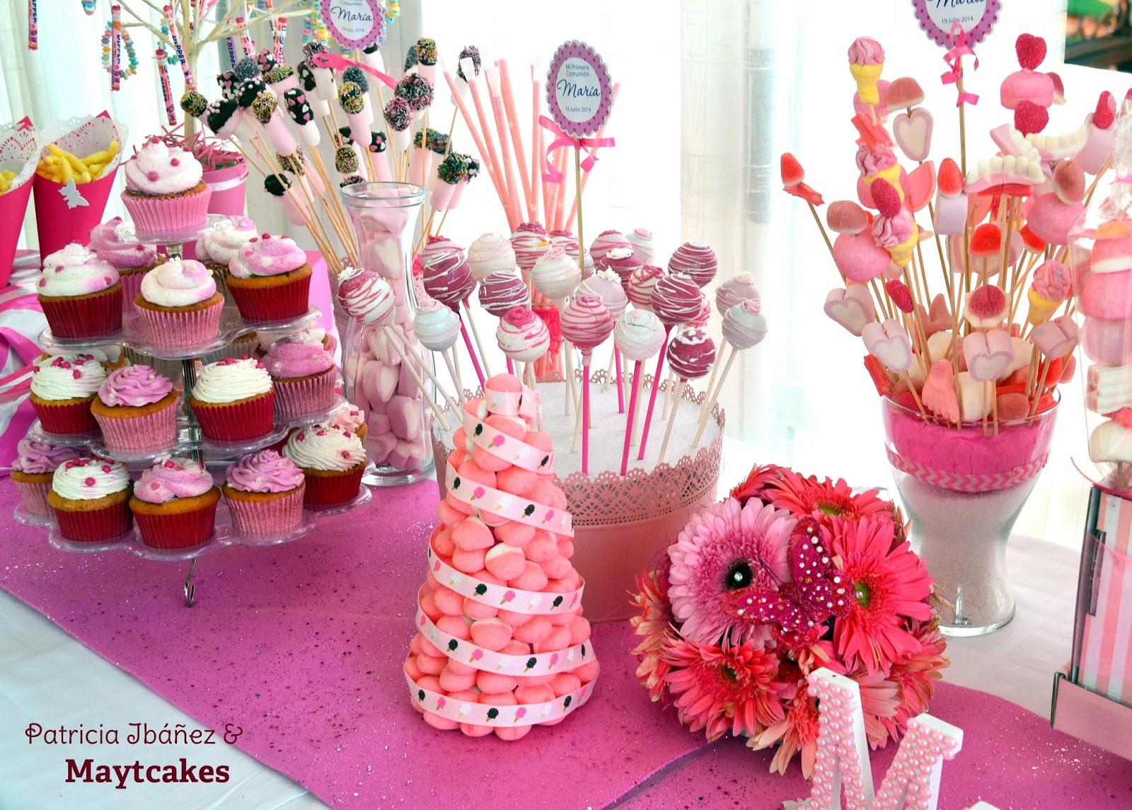 Manualidades e ideas para tus fiestas infantiles mesas - Ideas para mesas dulces de comunion ...