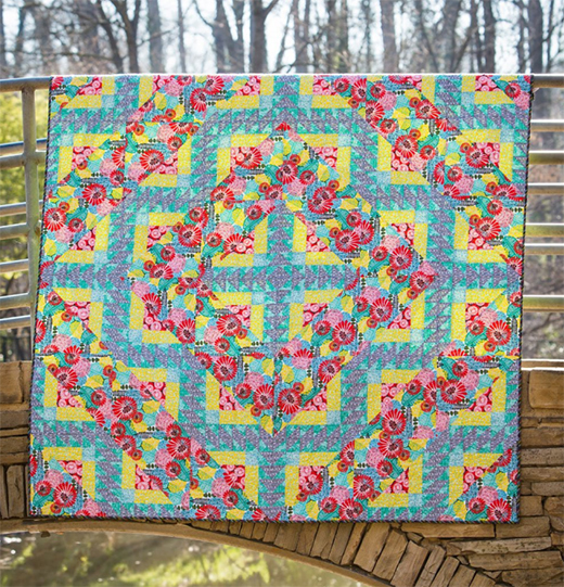 Blossom Quilt Designed by Stacey Day of Stacey in Stitches, Tech edited by Linda Turner Griepentrog, featuring Posy by Amy Reber