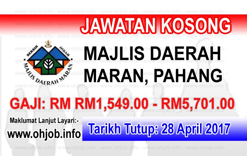 Jawatan Kerja Kosong Majlis Daerah Maran logo www.ohjob.info april 2017