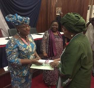 Nigeria's Dr. Okonjo-Iweala Awarded Liberia's Highest Female Honour By President Ellen Johnson Sirlea , See Photos
