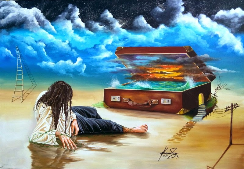 05-Castaway-from-Memories-Raceanu-Mihai-Adrian-Surreal-Oil-Paintings-www-designstack-co