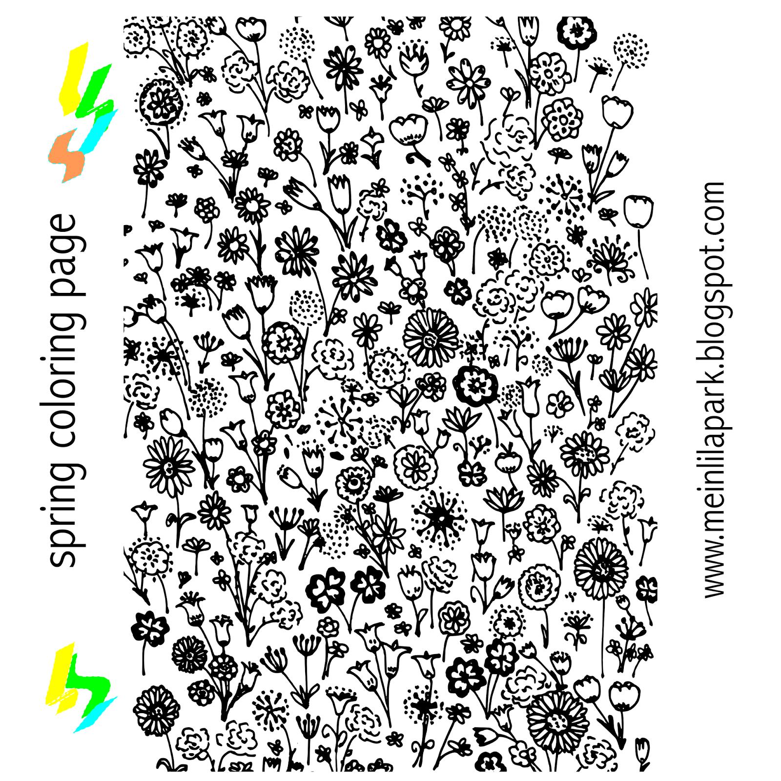 Free printable spring coloring page - ausdruckbare Ausmalseite ...