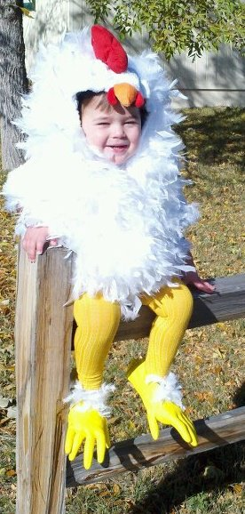 How to make a Chicken Costume!  sc 1 st  Girl in Air : chicken little halloween costumes  - Germanpascual.Com