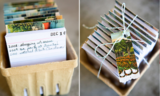 Image: DIY Project Vintage Postcard Calendar Journal