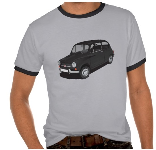 Fiat 600 t-shirts and apparels