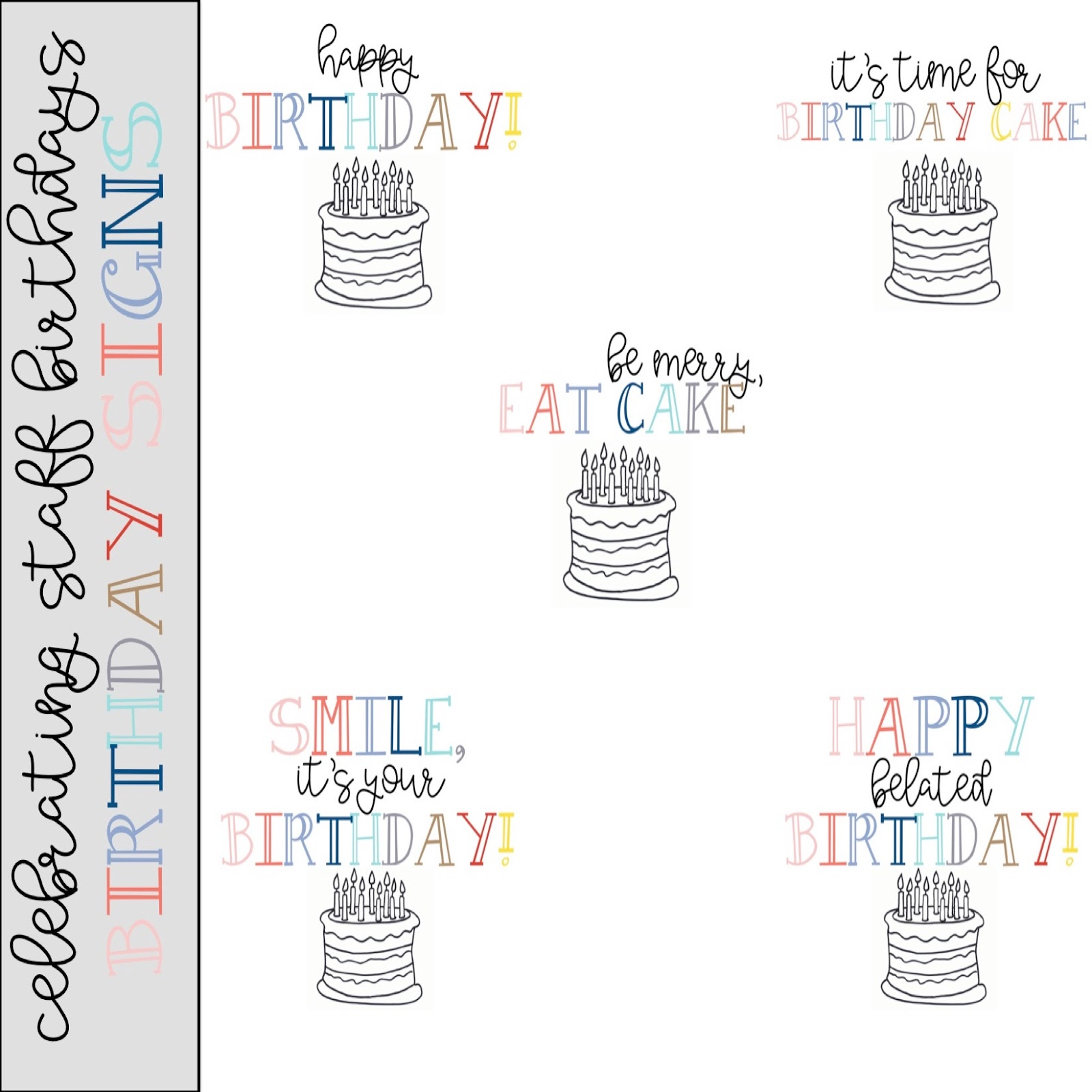 Celebrating Staff Birthdays | Printable Door Signs