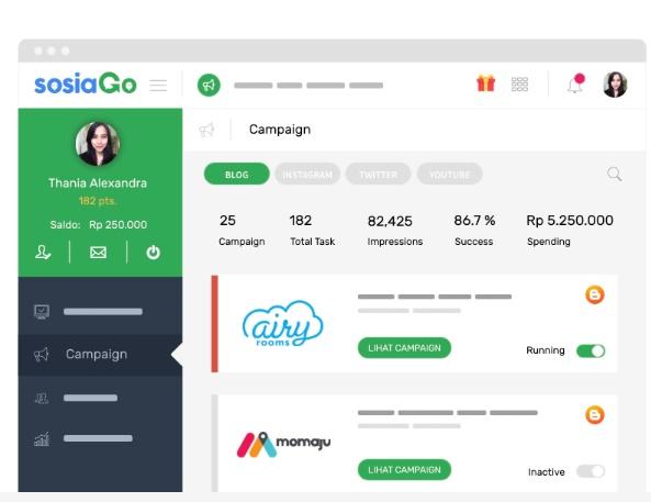 Coba SOSIAGO Influencer Marketing
