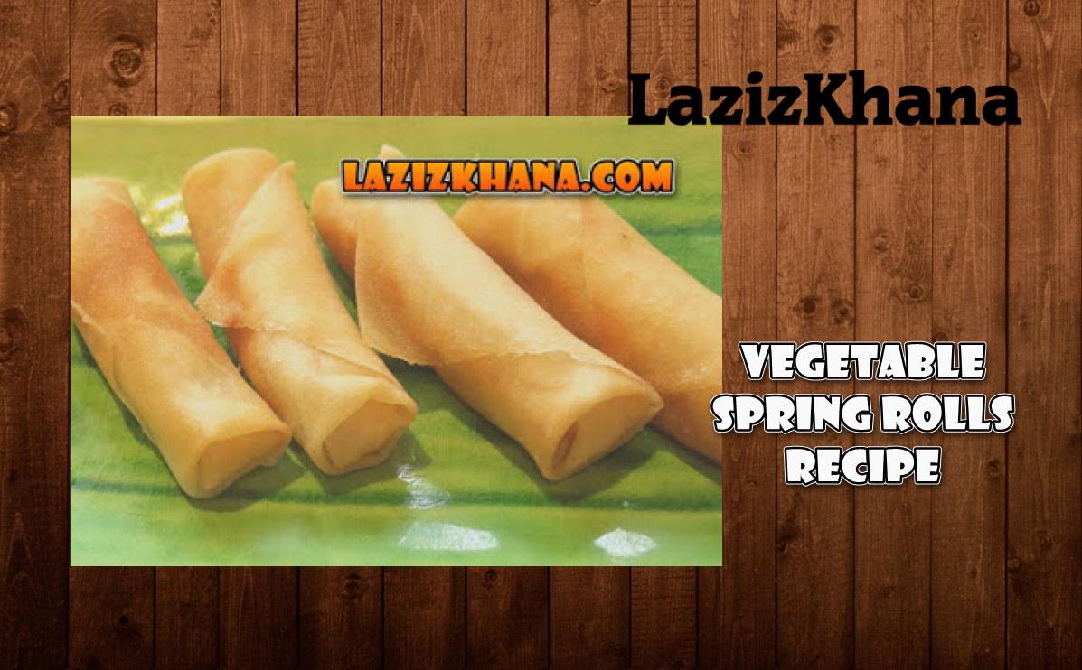 Veg Spring Rolls Recipe in Roman English - Veg Spring Rolls Banane ka Tarika