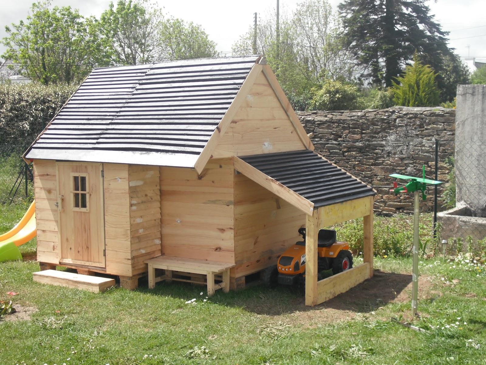 Mes fabrications construction d 39 une cabane en bois pour - Cabane de jardin en bois pour enfants ...