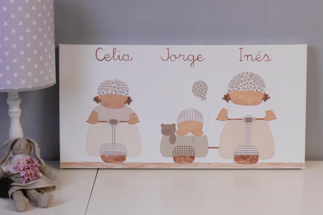 Cuadros infantiles personalizados y pintados a mano - Cuadros fotos personalizados ...