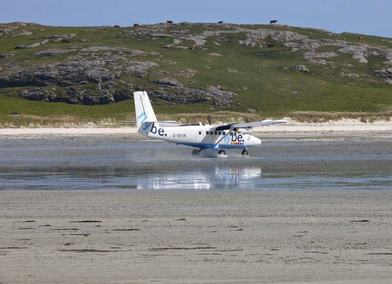 Barra beach landing strip in the world.