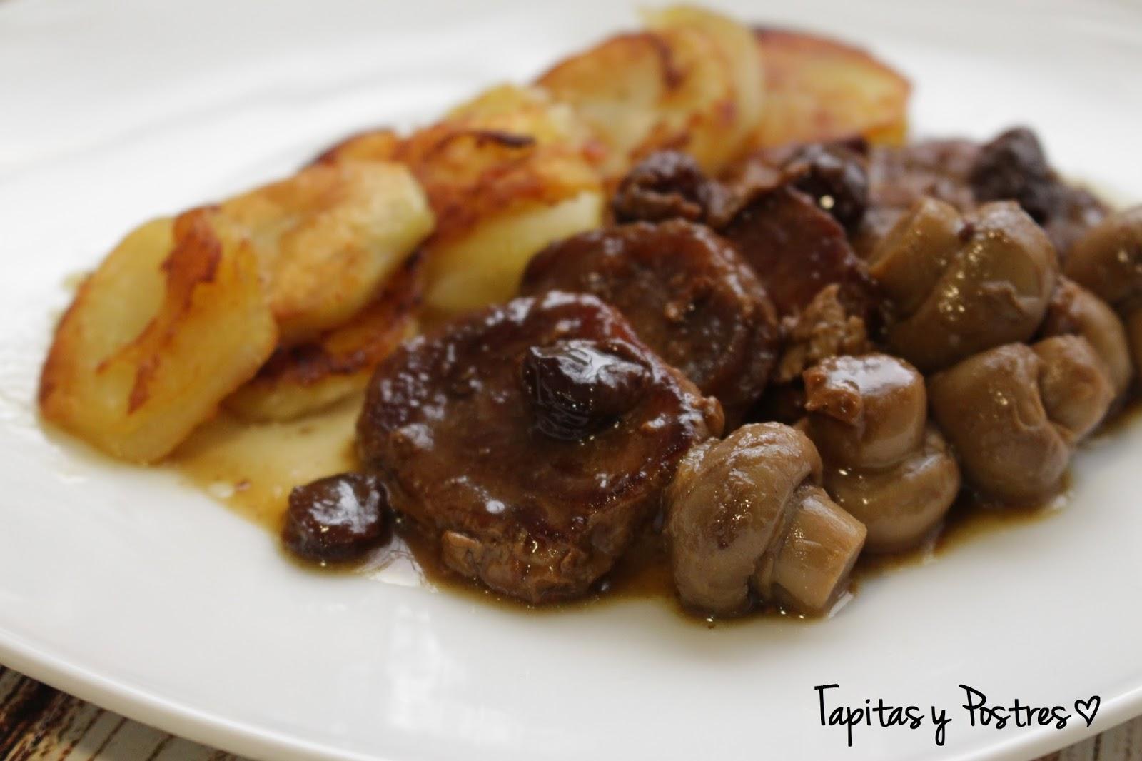 Tapitas y postres solomillo al pedro ximenez - Como preparar un solomillo de cerdo al horno ...