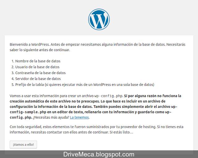 Comenzamos a instalar wordpress en linux