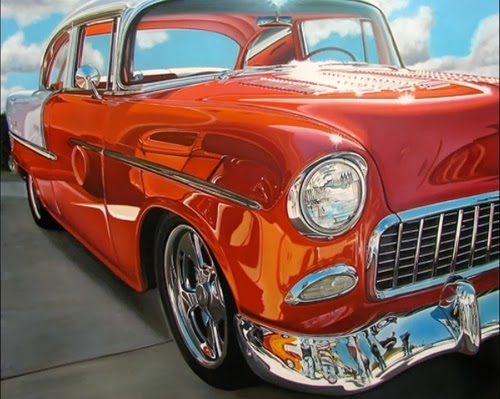 05-Chrysler-Cheryl-Kelley-Chrome-Muscle-Cars-Hyper-realistic-Paintings-www-designstack-co
