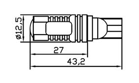 BECURI LED AUTO-MOTO: W3W, W5W, W6W, WY5W (T10)