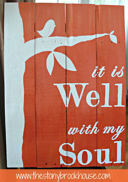 Sunburst Orange Ombre Pallet Sign {It Is Well}