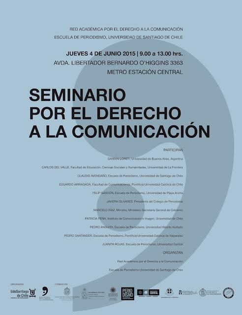 INVITACIÓN: Seminario por el Derecho a la Comunicación (jueves 4 de junio)