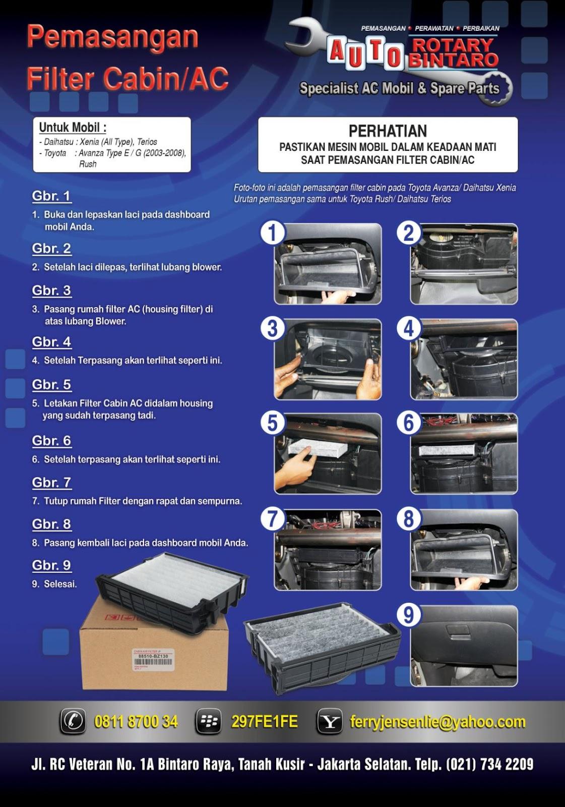 filter ac grand new avanza yaris trd sportivo cvt housing set xenia all tutorial cara pemasangan kabin