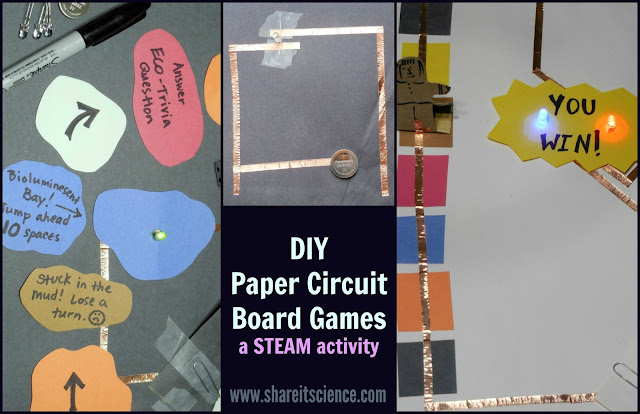 DIY Paper Circuit Board Games STEAM activity