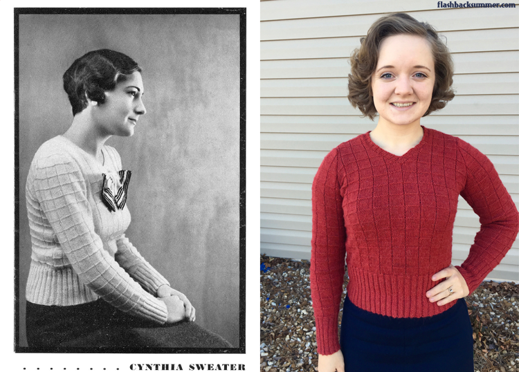 Flashback Summer: 1930s Cynthia vintage hand knitted sweater