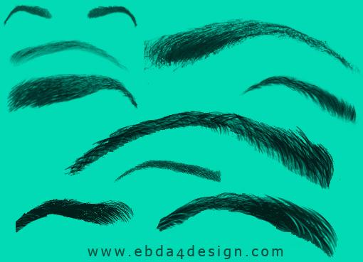 تحميل فرش حواجب العين للفوتوشوب مجاناً, Photoshop brushs free Download, Eyebrow Photoshop Brushs free Download