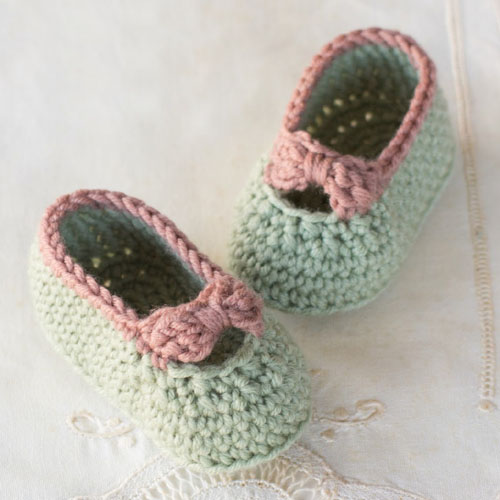 Little Lady Baby Booties - Free Pattern