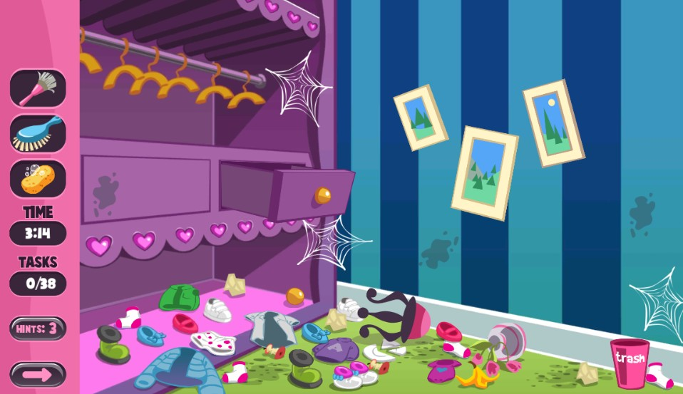 Baby Doll House Cleaning Princess Room Game 2019