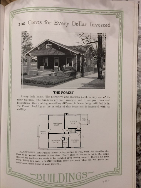 Manchester Buildings' Forest model shown in 1926 catalog
